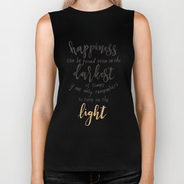 Dumbledore Quote | Happiness can be found... | Watercolor Biker Tank