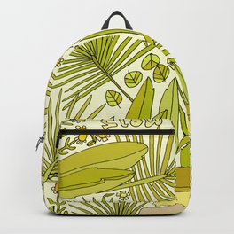 slow is the go // nature vibes // retro art by surfy birdy Backpack