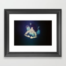 Swim Low Framed Art Print