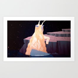 astrology series: capricorn Art Print