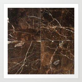 Brown Granite Squares Art Print