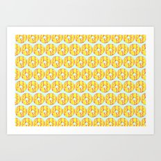 Party Ring Biscuit Pattern Art Print