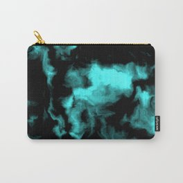Teal and Black Carry-All Pouch