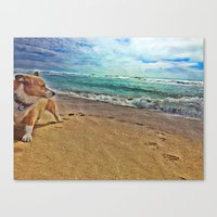 scary Canvas Prints featuring Scary by linalaughs