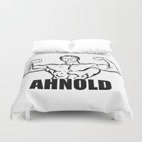 arnold Duvet Covers featuring Arnold Schwarzenegger     AHNOLD by Silvio Ledbetter