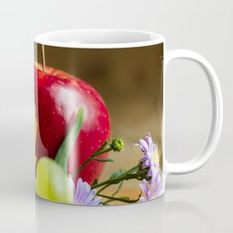 An autumn gifts still life on the blurred background Coffee Mug