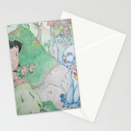 Lilo & Stitch at Home Stationery Cards