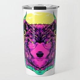 Werewolf Fierce Wolf Mythical Creature Majestic Travel Mug