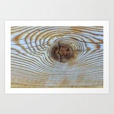 Wooden Knot Texture Art Print