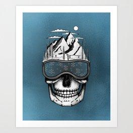Skullorado v2 Art Print