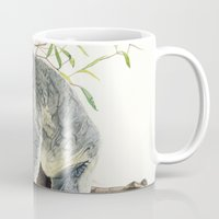 koala Mugs featuring Koala by Patrizia Donaera ILLUSTRATIONS