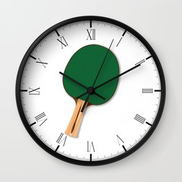 One Table Tennis Bats Wall Clock