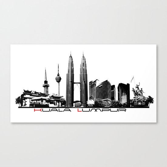 Kuala Lumpur skyline black by jbjart