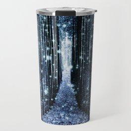 Magical Forest Teal Indigo Elegance Travel Mug