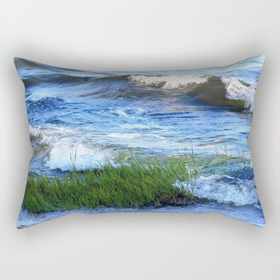 Soft Rolling Waves - 2 Rectangular Pillow