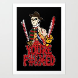 Slasher Mash (NSFW) Art Print