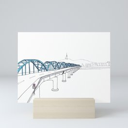 Dongjak Bridge in Seoul Mini Art Print