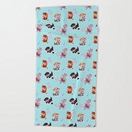 Zombie Cats Beach Towel