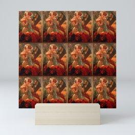 "Alphonse Mucha ""Sarah Bernhardt / Lefèvre - Utile"" Mini Art Print"