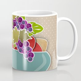 Picture . A bowl of fruit. Coffee Mug