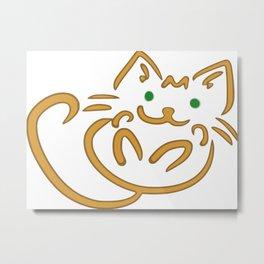 Playful Kitty Metal Print