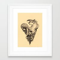 orca Framed Art Prints featuring orca by Jakub Cichecki