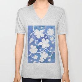 Flowers of snow Unisex V-Neck