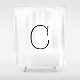 Letter C Typewriting Shower Curtain