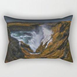 The Canyon of Olfusa Rectangular Pillow