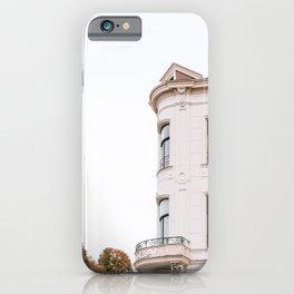 French style facade || Travel photography pastel neutral summer cityscape architecture iPhone Case