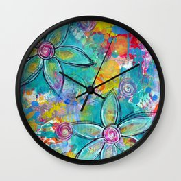 Live Life to the Max! Original painting by Mimi Bondi Wall Clock