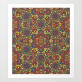 Space Lace Reds Art Print