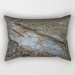 Beautiful Natural Rock Texture Among Barnacles Rectangular Pillow