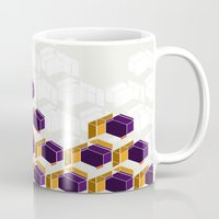 crystals Mugs featuring Crystals by AJJ ▲ Angela Jane Johnston