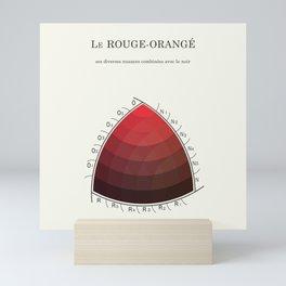 Le Rouge-Orangé (ses diverses nuances combinées avec le noir) Remake (Interpretation) Mini Art Print