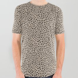 BLACK and WHITE LEOPARD PRINT – Ecru | Collection : Leopard spots – Punk Rock Animal Prints. All Over Graphic Tee