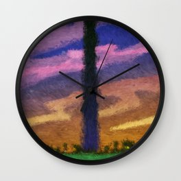 Washington Monument at Dusk Wall Clock
