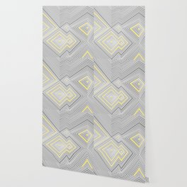 White, Yellow, and Gray Lines - Illusion Wallpaper