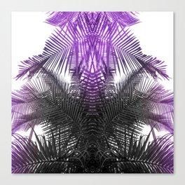 purple gray fern Canvas Print