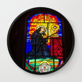Stained Glass of the Cathedral Almudena Wall Clock