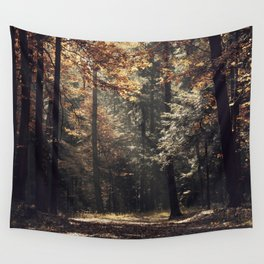 Autumn light and rays - horizontal Wall Tapestry