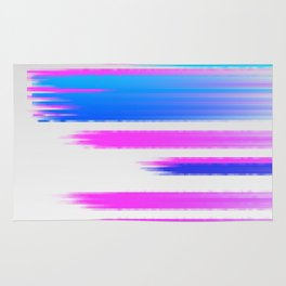 Abstract pink and blue Rug