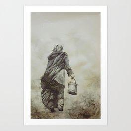 Work and Solitude Art Print