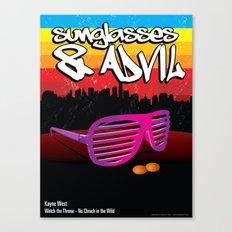 Sunglasses and Advil Canvas Print