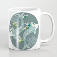 koi Mugs featuring Koi by Amanda Dilworth