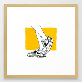 Kickin' in the Sun · Sneakers Illustration in India Ink Framed Art Print