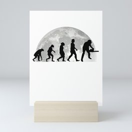 Tree Cutter Evolution Moon Forester Mini Art Print