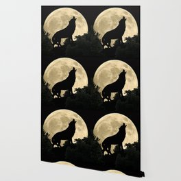 Wolf Howling at the Full Moon A303 Wallpaper