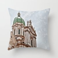 italy Throw Pillows featuring Italy by LaiaDivolsPhotography
