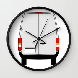 Small Van Back Doors Wall Clock